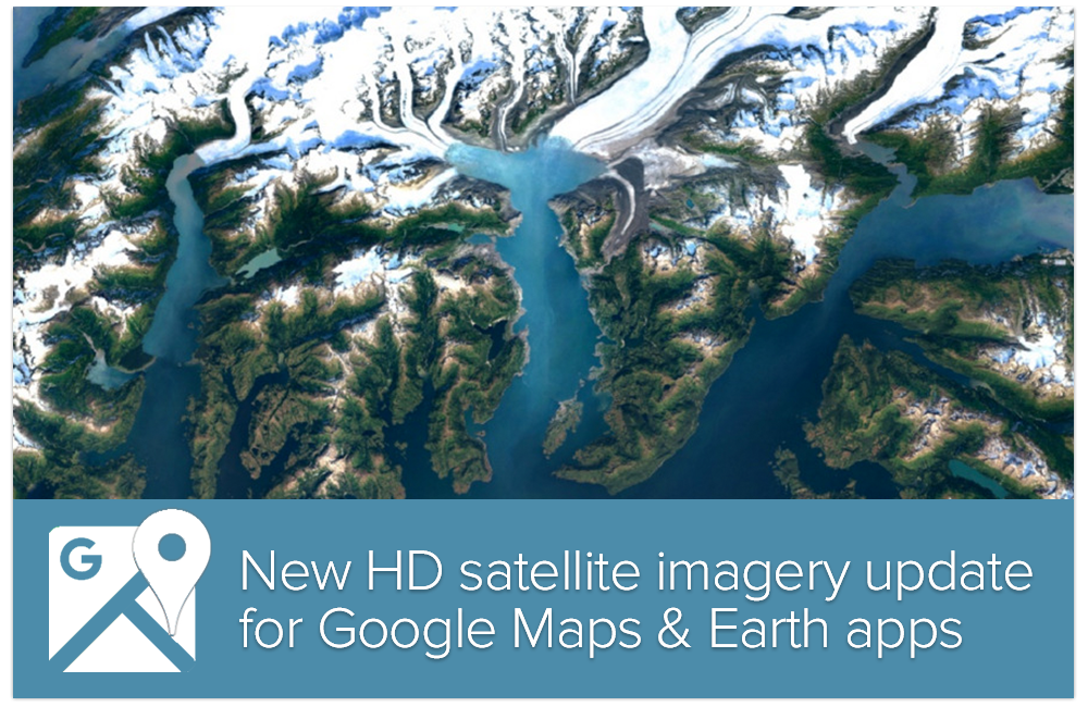 Google Maps and Earth Updated with High Res Imagery
