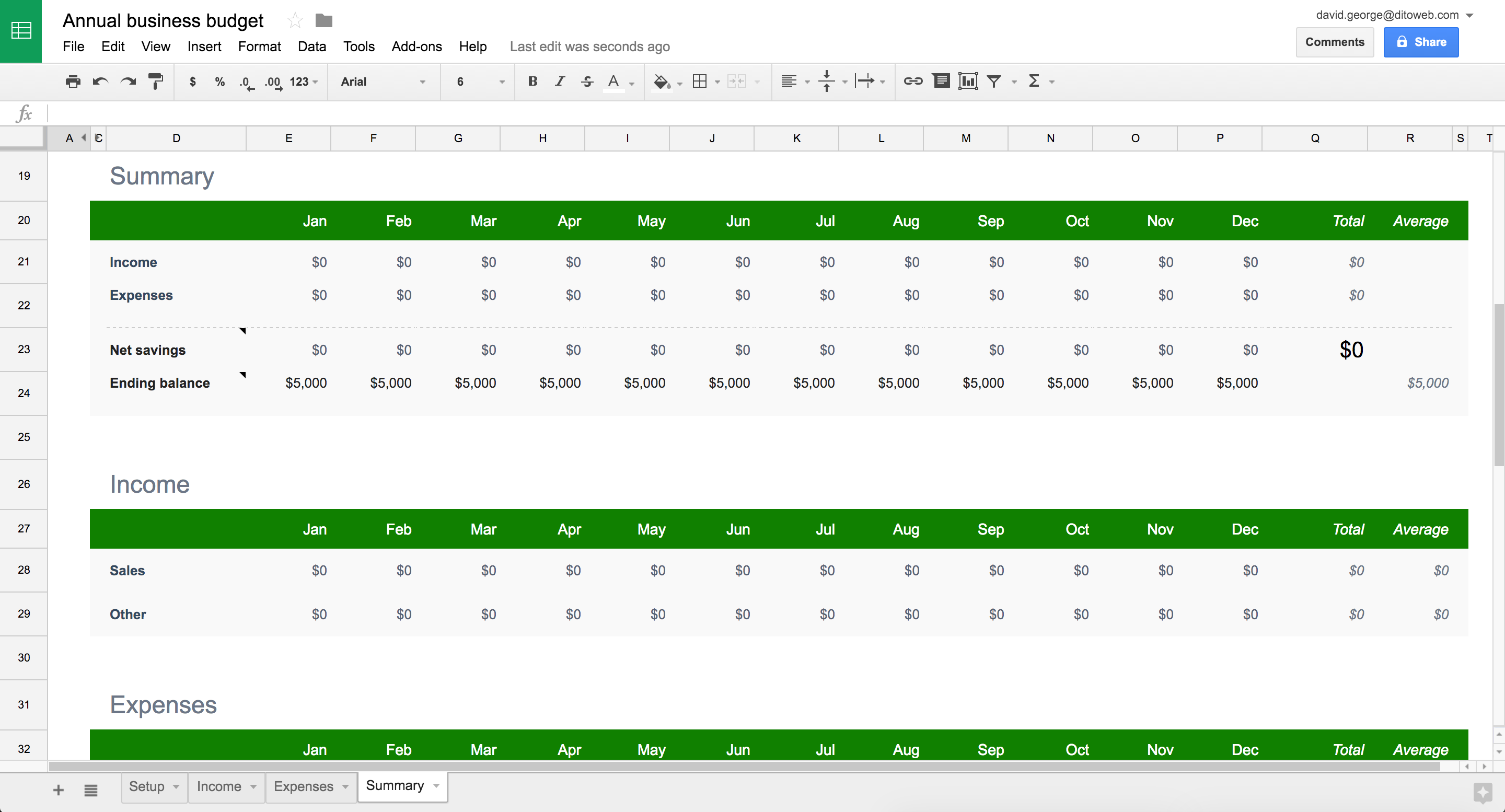 new google sheets annual business budget template google cloud